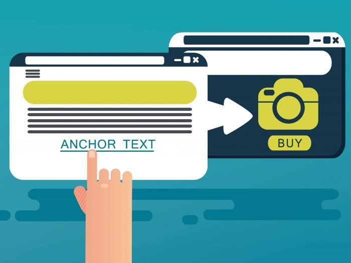 An illustration of anchor text